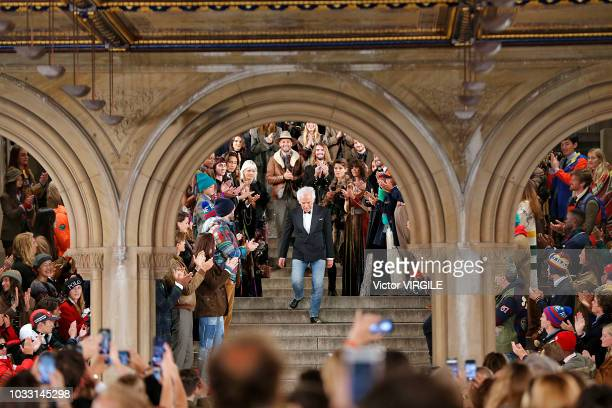 Fashion designer Ralph Lauren walks the runway for Ralph Lauren fashion show during New York Fashion Week on September 7, 2018 in New York City.