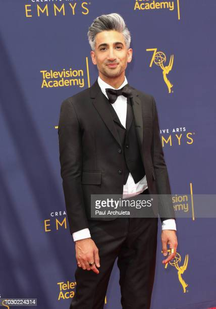 Fashion Designer / Reality TV Personality Tan France attends the 2018 Creative Arts Emmy Awards - Day 2 at the Microsoft Theater on September 9, 2018...