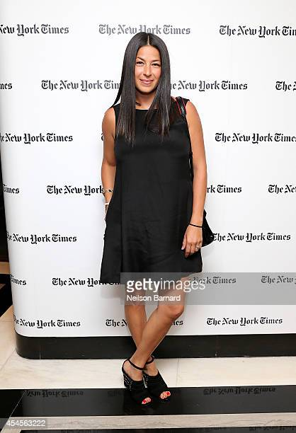 Fashion designer Rebecca Minkoff attends the New York Times Vanessa Friedman and Alexandra Jacobs welcome party on September 3 2014 in New York City