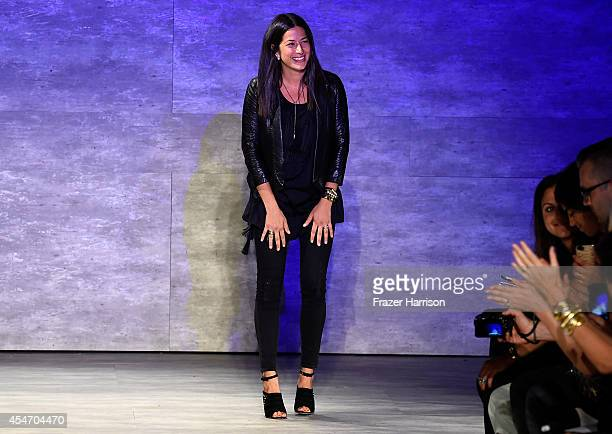 Fashion designer Rebecca Minkoff walks the runway at the Rebecca Minkoff fashion show during Mercedes-Benz Fashion Week Spring 2015 at The Pavilion...