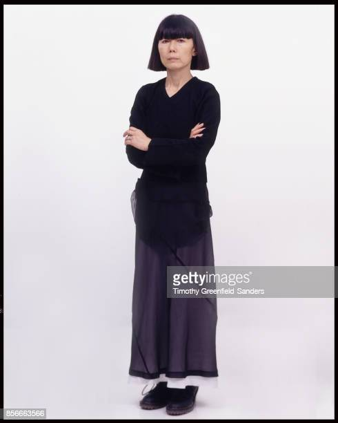 Fashion designer Rei Kawakubo is photographed in 1994 in New York City