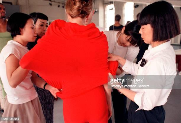 Fashion designer Rei Kawakubo is photographed in New York City 1997