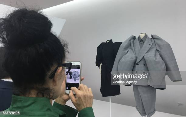 Fashion designer Rei Kawakubo's dresses present during The Metropolitan Museum of Art Costume Institutes 2017 Exhibition as a honored guest in New...