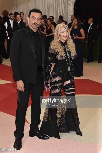 "Fashion designer Riccardo Tisci and Madonna attend the ""Manus x Machina: Fashion In An Age Of Technology"" Costume Institute Gala at Metropolitan..."