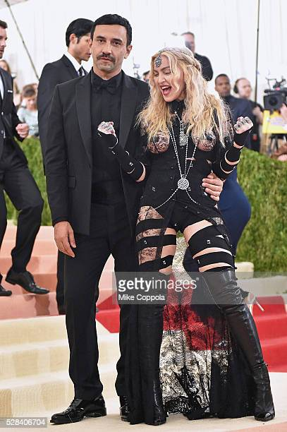 Fashion designer Riccardo Tisci and Madonna attend the 'Manus x Machina Fashion In An Age Of Technology' Costume Institute Gala at Metropolitan...