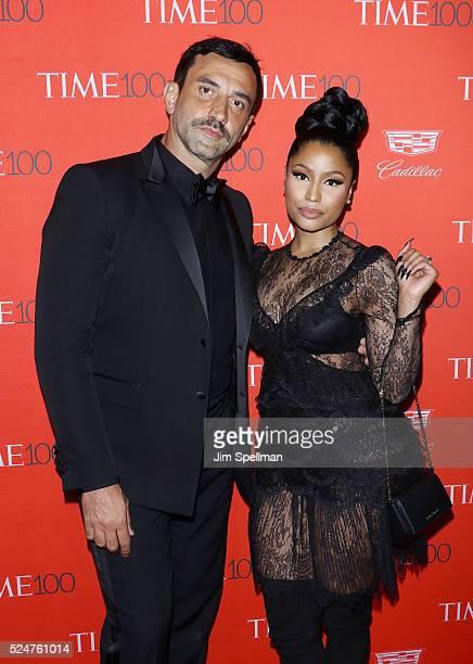 Fashion designer Riccardo Tisci and rapper Nicki Minaj attend the 2016 Time 100 Gala at Frederick P. Rose Hall, Jazz at Lincoln Center on April 26,...