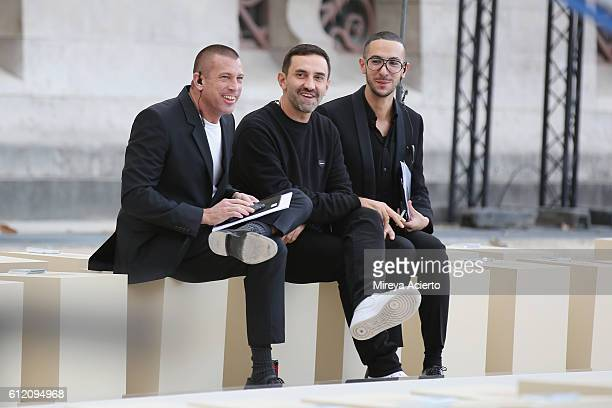 Fashion designer Riccardo Tisci seen prior to the Givenchy show as part of the Paris Fashion Week Womenswear Spring/Summer 2017 on October 2, 2016 in...