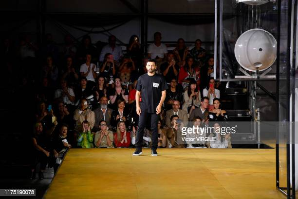 Fashion designer Riccardo Tisci walks the runway at the Burberry Ready to Wear Spring/Summer 2020 fashion show during London Fashion Week September...