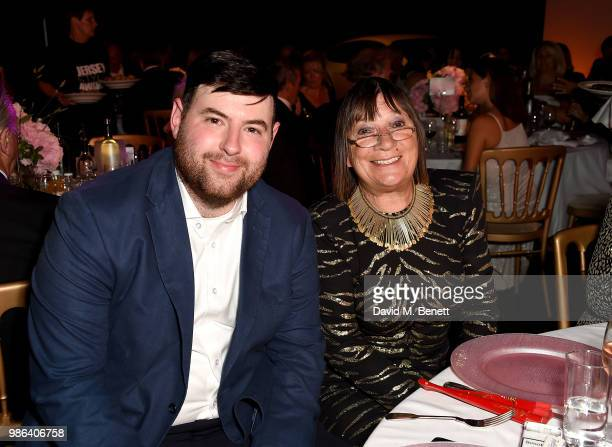 Fashion designer Richard Quinn and Hilary Alexander attend the 2nd annual Jersey Style Awards in association with Bentley Motors, Chopard and Ortac...