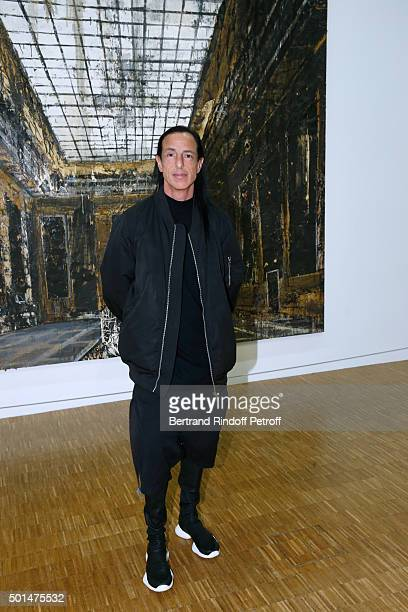 Fashion designer Rick Owens attends the Anselm Kiefer's Exhibition Press Preview held at Centre Pompidou on December 15 2015 in Paris France