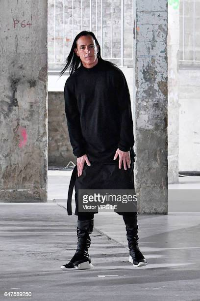 Fashion designer Rick Owens walks the runway during the Rick Owens Ready to Wear fashion show as part of the Paris Fashion Week Womenswear...