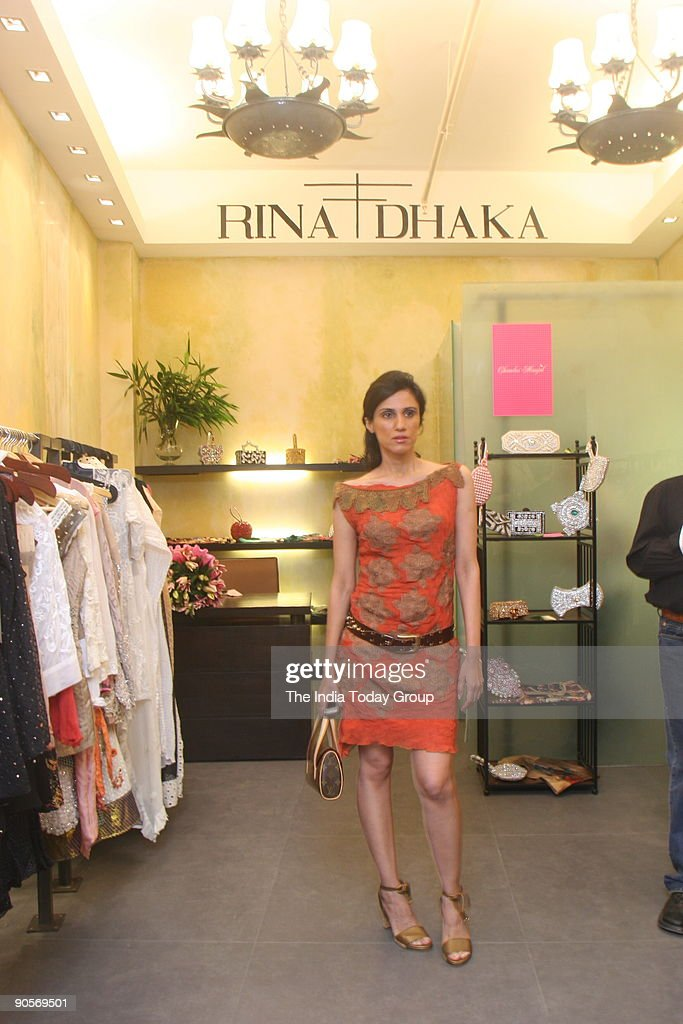 Fashion Designer Rina Dhaka During Her Boutique Opening At Crescent News Photo Getty Images