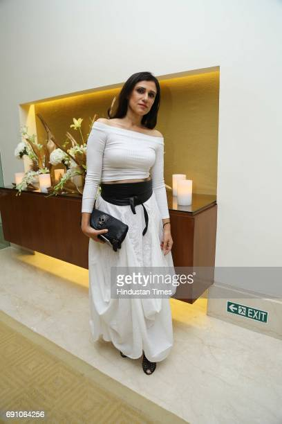 Fashion Designer Rina Dhaka during the Hindustan Times Game Changer Awards 2017 at Hotel Oberoi on May 24 2017 in Gurgaon India