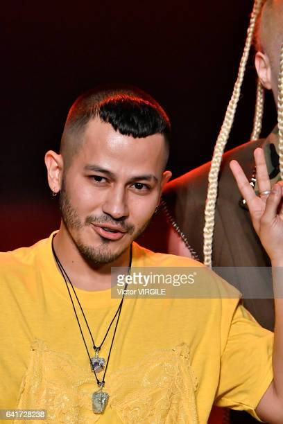 Fashion designer Rio Uribe walks the runway for the Gypsy Sport fashion show during New York Fashion Week Fall Winter 20172018 on February 12 2017 in...
