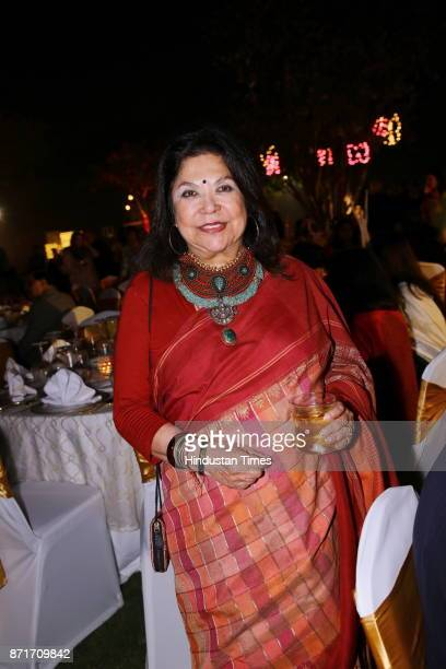 Fashion designer Ritu Kumar during the fundraiser for Lepra India Trust at the residence of the British High Commissioner Sir Dominic Asquith at 2...
