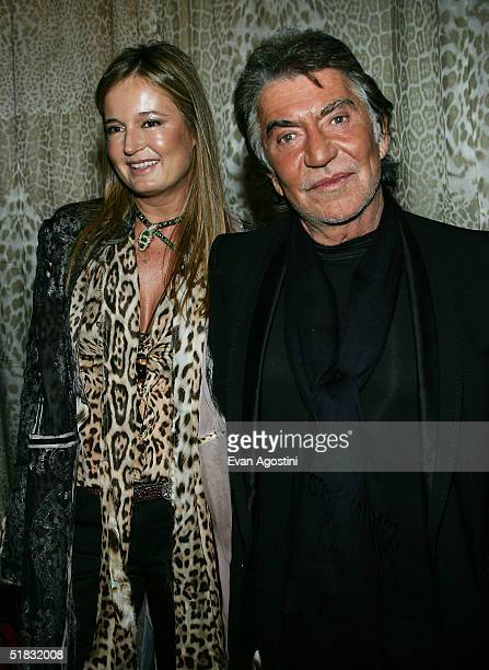 """Fashion designer Roberto Cavalli and wife Eva attend a preview gala dinner for the Metropolitan Museum's """"Wild: Fashion Untamed"""" exhibition, hosted..."""