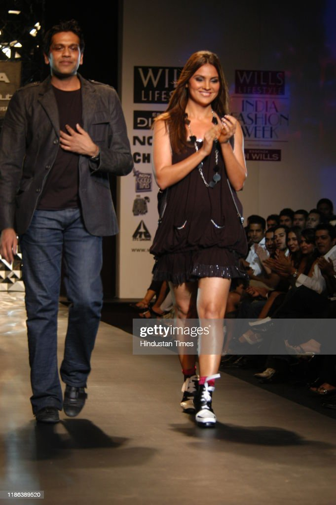 Fashion Designer Rocky S With Bollywood Actress Lara Dutta During His News Photo Getty Images