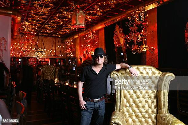 Fashion Designer Rohit Bal at Veda Restaurant Connaught Place in New Delhi India on Monday July 30 2007