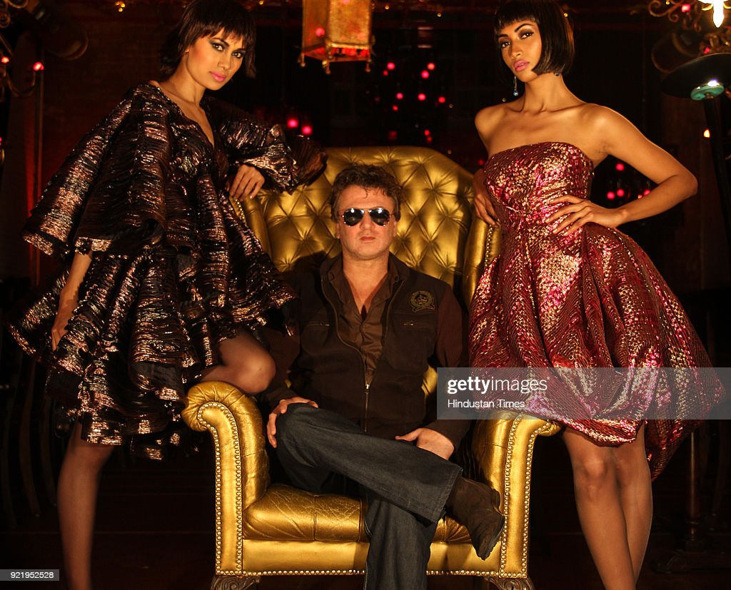 Fashion designer Rohit Bal during preview of his new collection for Wills Fashion Week, in New Delhi.