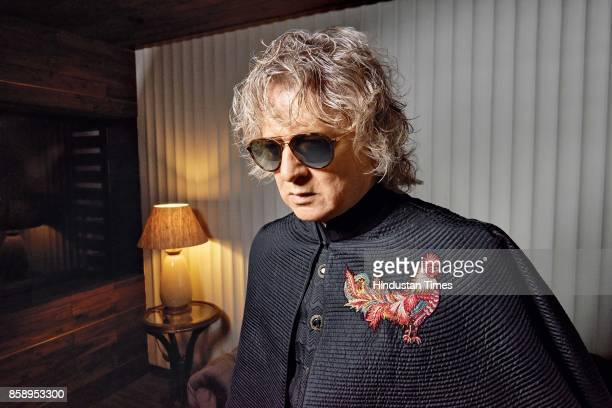 Fashion designer Rohit Bal poses during an exclusive interview with HT BrunchHindustan Times on September 1 2017 in New Delhi India