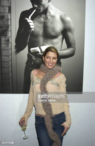 "Fashion designer Sadie Frost attends the private view for Mary McCartney Donald's new exhibition ""Off Pointe"" at the Royal Opera House, Covent Garden..."