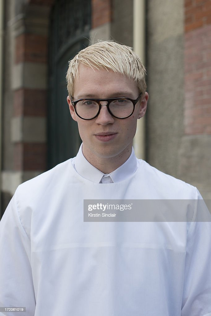 Fashion designer Sam Cottan wears an Agy and Sam and Tom Ford glasses on day 5 of Paris Collections: Men on June 30, 2013 in Paris, France.