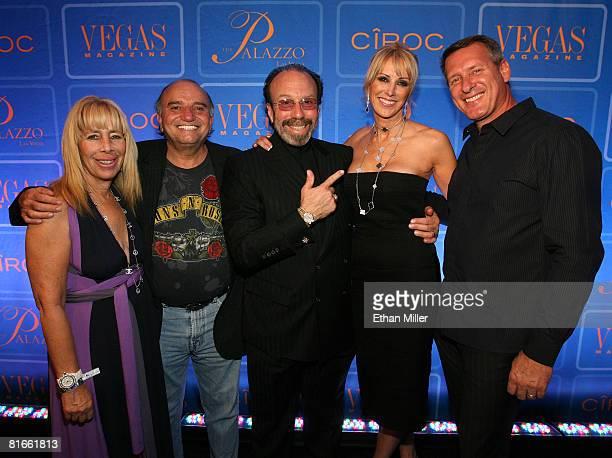 Fashion designer Sandi Powers chairman of Ocean Drive Media Group Jerry Powers entertainment manager Bernie Yuman publisher of Vegas Magazine Alison...