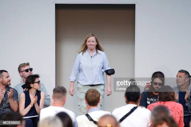 Fashion designer Sara Burton during the Alexander McQueen Menswear Spring/Summer 2019 show as part of Paris Fashion Week on June 22 2018 in Paris...