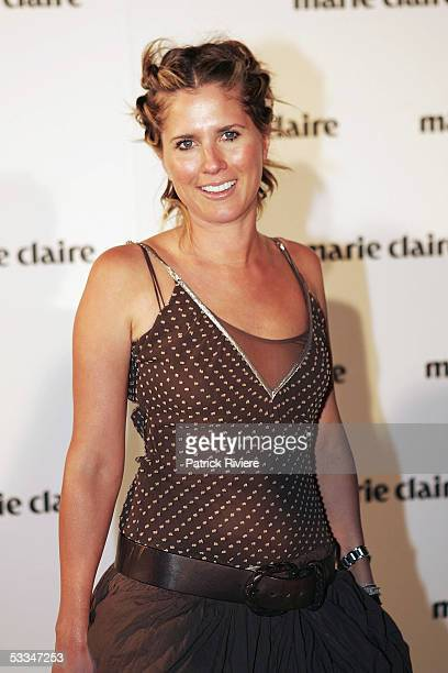 Fashion designer SarahJane Clarke attends the 10th Birthday Party of Marie Claire Magazine at the Technology Park on August 09 2005 in Sydney...