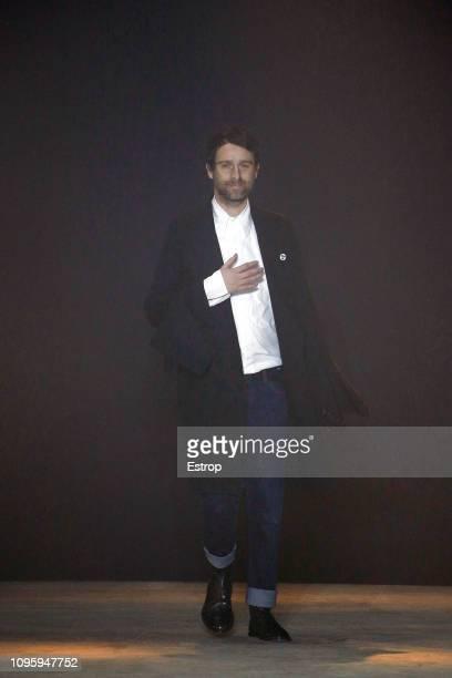 Fashion designer Sébastien Meunier during the Ann Demeulemeester Menswear Fall/Winter 20192020 show as part of Paris Fashion Week on January 18 2019...
