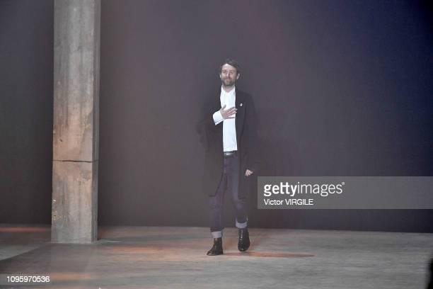 Fashion designer Sebastien Meunier walks the runway during the Ann Demeulemeester Menswear Fall/Winter 2019-2020 fashion show as part of Paris...