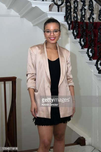 Fashion designer Shanna Bent at the Maison Bent AW20 Presentation at Pushkin House on February 06 2020 in London England