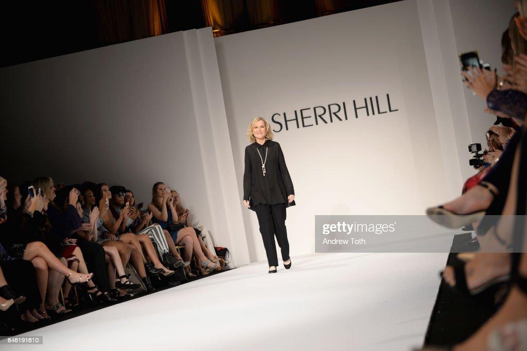 Fashion Designer Sherri Hill attends the Sherri Hill NYFW SS18 Runway Show at Gotham Hall on September 12, 2017 in New York City.