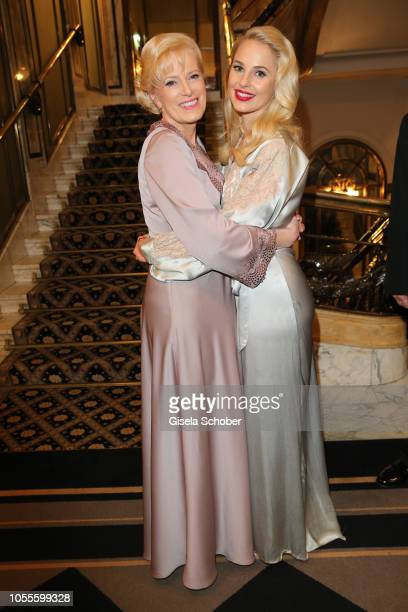 Fashion designer Silvia Schneider and her mother Martha Schneider during the presentation of her collection 'Dressing Gown' and perfume at Hotel...