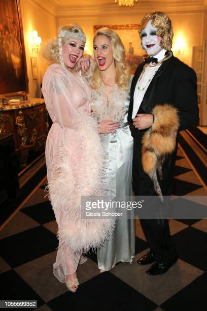 Fashion designer Silvia Schneider and Kabaret der Namenlosen during the presentation of the collection 'Dressing Gown' and perfume of fashion...