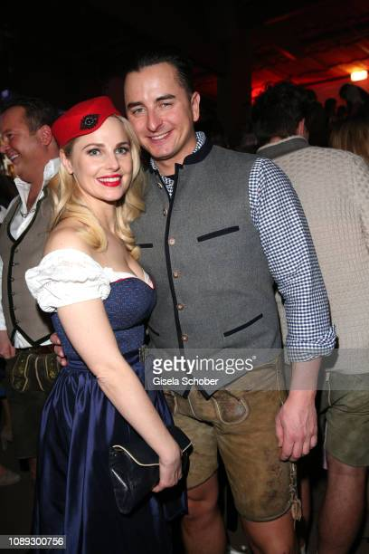 Fashion designer Silvia Schneider and singer Andreas Gabalier during the 28th Weisswurstparty at Hotel Stanglwirt on January 25 2019 in Going near...