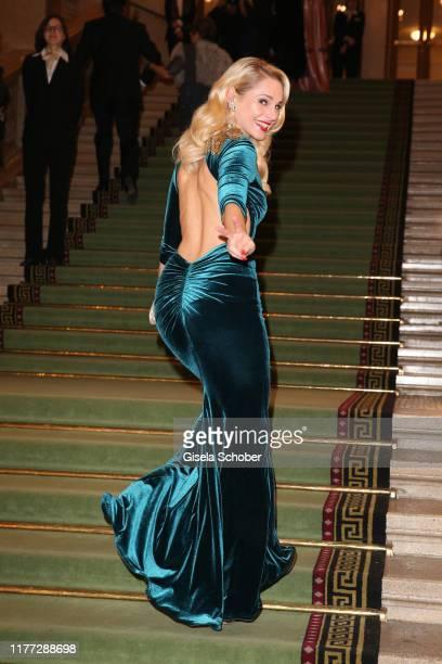 Fashion designer Silvia Schneider during the European Cultural Award 'Taurus' at Vienna State Opera on October 20 2019 in Vienna Austria