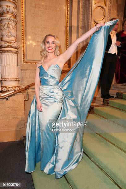 Fashion designer Silvia Schneider during the Opera Ball Vienna at Vienna State Opera on February 8 2018 in Vienna Austria