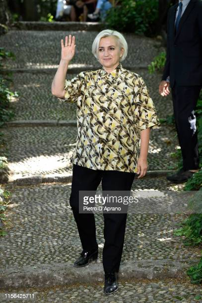 Fashion designer Silvia Venturini Fendi walks the runway at the Fendi fashion show during the Milan Men's Fashion Week Spring/Summer 2020 on June 17,...