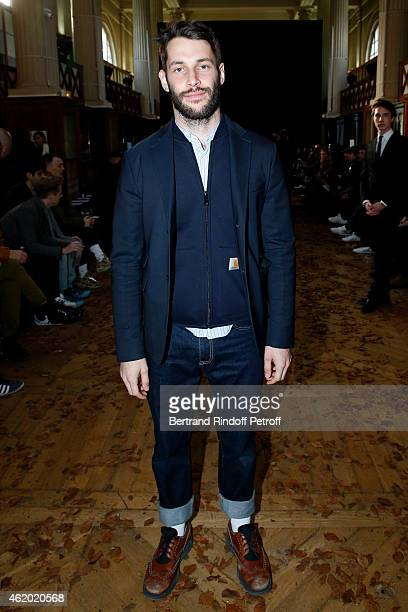 Fashion Designer Simon Porte Jacquemus attends the Krisvanassche Menswear Fall/Winter 20152016 Show as part of Paris Fashion Week on January 23 2015...