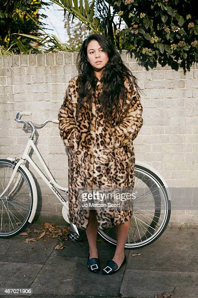 Fashion designer Simone Rocha is photographed for Elle Collections on November 26 2014 in London England