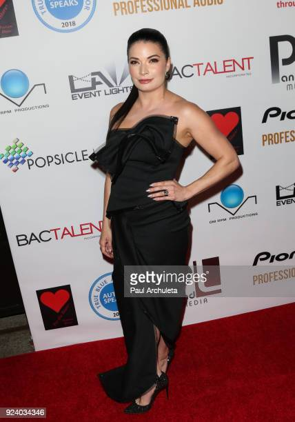 Fashion Designer Skye Drynan attends the Gifting Your Spectrum gala benefiting Autism Speaks on February 24 2018 in Hollywood California