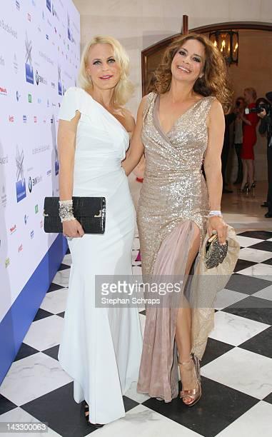 Fashion designer Sonja Kiefer and Gitta Saxx attend the award ceremony of the 'Felix Burda Award' at the Hotel Adlon Unter den Linden on April 22...