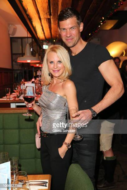 Fashion designer Sonja Kiefer and her boyfriend Cedric Schwarz during the Christmas Charity Dinner hosted by StefanMross AnnaCarinaWoitschack and...