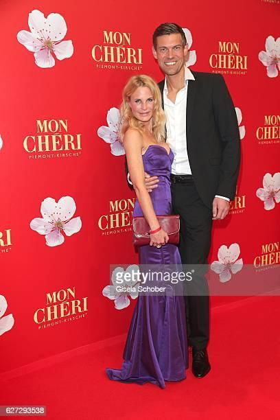 Fashion designer Sonja Kiefer and her boyfriend Cedric Schwarz during the Mon Cheri Barbara Tag 2016 at Postpalast on December 2 2016 in Munich...
