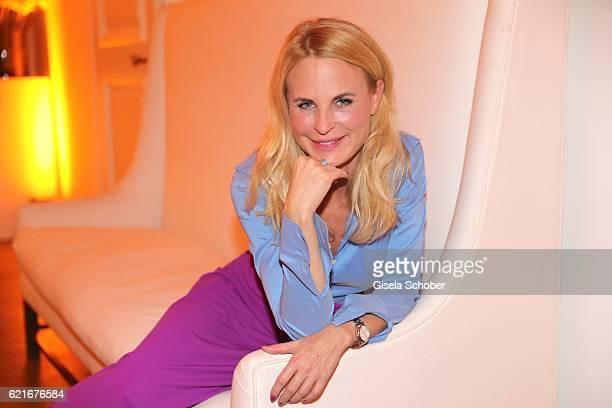 Fashion designer Sonja Kiefer during the birthday party for the 10th anniversary of ICON at Nymphenburg Palais No 6 on November 7 2016 in Munich...