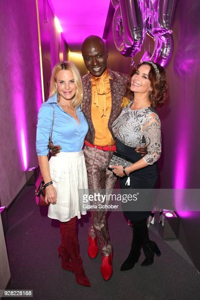 Fashion designer Sonja Kiefer Papis Loveday and Gitta Saxx during the Business Women's Society launch event at Lovelace Hotel on March 6 2018 in...