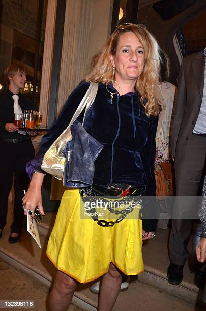 Fashion designer Stanislassia Klein from Stella Cadente attends the 50 th Anniversary of 'Sophie La Girafe' at Salon France Ameriques on May 24 2011...
