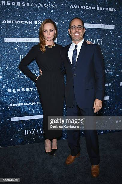 Fashion designer Stella McCartney and comedian Jerry Seinfeld attend 2014 Women's Leadership Award Honoring Stella McCartney at Alice Tully Hall at...