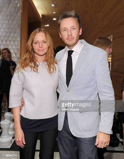 Fashion designer Stella McCartney and husband Alasdhair Willis attend the launch of the new Stella McCartney boutique at Saks Fifth Avenue on May 4...
